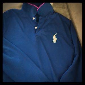 Polo golf performance long sleeve Polo Shirt